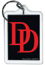 Marvel Comics X-Men Daredevil Logo Lucite Keychain 65792KR