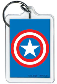 Marvel Comics Captain America Shield Lucite Keychain 65793KR