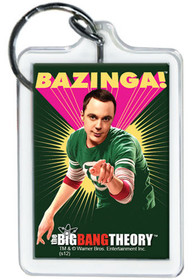 The Big Bang Theory Sheldon Bazinga Lucite Keychain