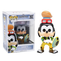 Unlock the light with the help of a familiar friend! From the Kingdom Hearts video game series comes a Funko-tastic Goofy. Packaged in window display box, this Kingdom Hearts Goofy Pop! Vinyl Figure measures approximately 3 3/4-inches tall. Ages 3 and up.