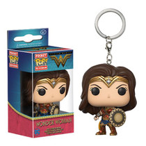 The Amazon warrior princess known as Wonder Woman is about to take your collection by storm! From 2017's Wonder Woman movie, comes this key chain version of the superhero in her miniature Pop! form, complete with her shield. The Wonder Woman Movie Pocket Pop! Key Chain measures approximately 1 1/2-inches tall and comes packaged in a window display box. Ages 3 and up.