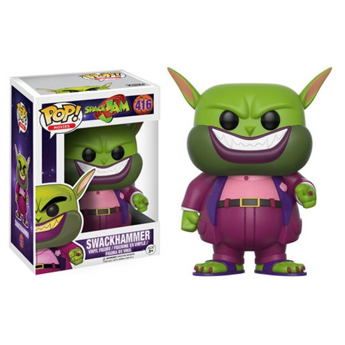 Get ready to jam! Get ready for the ultimate game with a familiar character from 1996's Space Jam. This Space Jam Swackhammer Pop! Vinyl Figure measures approximately 3 3/4-inches tall and comes packaged in a window display box. Ages 3 and up.