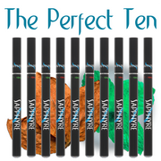 Get even MORE value! Our Perfect Ten package offers savings galore! With consistent great flavor, big vapor and a sophisticated look, Sapphyre eCigarettes deliver a premium vaping experience puff after puff. Sapphyre eCigarettes equal up to TWO PACKS of traditional cigarette pleasure, and compared with other national brands, the savings with The Perfect Ten is huge!