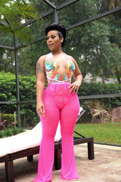 Candy Mesh Pants Hot Pink