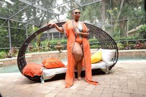 Orange Trio Plus Swimsuit