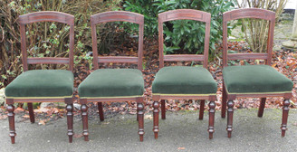 Antique set of 4 late Victorian dining chairs