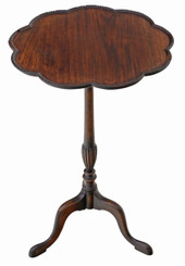 Antique Georgian revival mahogany wine table side