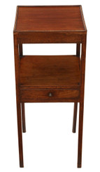 Antique Georgian mahogany C1800 bedside cupboard table cabinet washstand