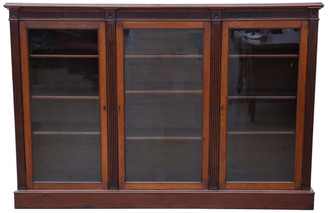 Antique large quality Victorian C1880-1900 mahogany bookcase shelves