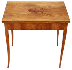 Antique quality 19th Century Swedish Biedermeier side centre writing table
