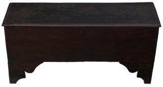 Antique Georgian 18C 6 plank oak mule chest coffer blanket box coffee table
