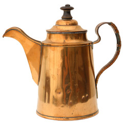 Antique copper tea pot C1940