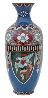 Antique early 20th Century Japanese cloisonne vase