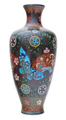 Antique 19th Century Japanese cloisonne vase