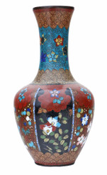 Antique 19th Century Japanese vase cloisonne