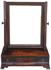 Antique Georgian Regency mahogany dressing table swing mirror