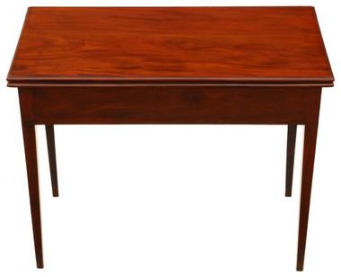 Antique Georgian C1800 mahogany folding card tea console table