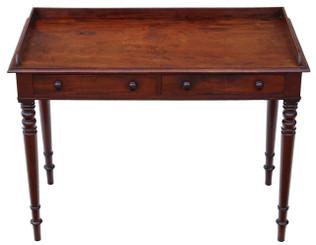Antique Regency C1825-37 mahogany writing desk or dressing table