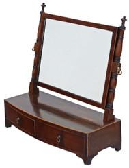 Antique quality Regency Georgian mahogany dressing table swing mirror toilet