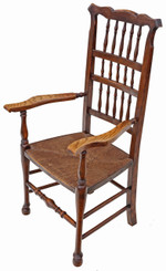 Antique 19th Century ash elm armchair chair hall side dining carver