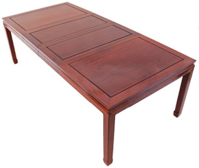 Antique 8' Chinese extending dining table rosewood elm
