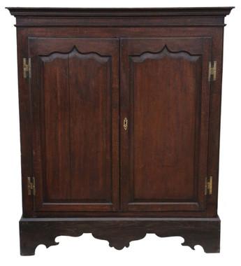 Antique Georgian oak hall housekeeper's kitchen larder cupboard