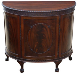 Antique Maple & Co. mahogany sideboard chiffonier cupboard console table