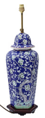 Antique quality blue and white Oriental ceramic table lamp