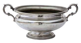 Antique large silver plate tureen bowl Elkington & Co. Camb Uni