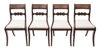 Antique set of 4 C1825 Regency mahogany dining chairs