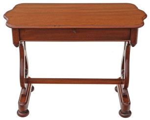 Antique Victorian C1860 mahogany writing desk library centre table