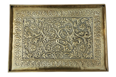 Antique quality C1920 Keswick School of Industrial Art brass serving tray