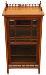 Antique Victorian C1890-1900 walnut music display cabinet