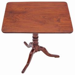Antique Georgian elm oak tilt top side supper table