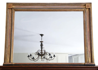Antique large quality Victorian gilt wall mirror Shoolbred 4' x 3'