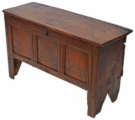 Georgian 18th Century & later oak coffer or mule chest