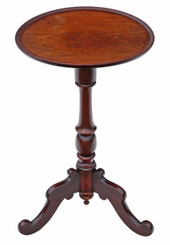Antique quality Regency mahogany tilt top wine or side table