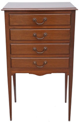 Antique mahogany music cabinet chest of drawers early 20th Century