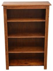 Antique quality adjustable oak bookcase C1910