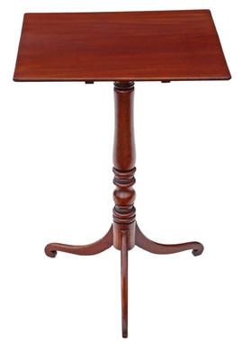 Antique Georgian Regency mahogany tilt top wine or supper table