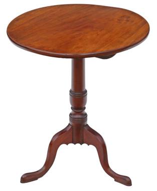 Antique Georgian mahogany tilt top supper table wine
