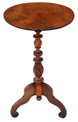 Antique 19th Century Victorian walnut wine table side occasional