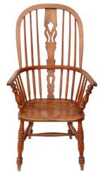 Antique Victorian C1840 ash & elm Windsor armchair chair armchair dining