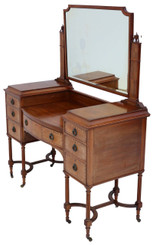 Antique quality Edwardian C1900-1910 inlaid rosewood dressing table