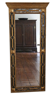 """Antique large quality Victorian full length gilt hall wall mirror 5' x 2'4"""""""