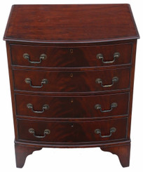 Antique small Georgian revival mahogany chest of drawers C1915