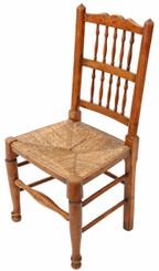 Antique Victorian Lancashire elm kitchen dining chair