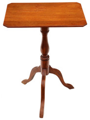 Antique Victorian C1850 mahogany & beech tilt top supper table side wine