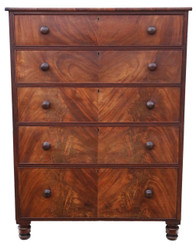 Antique large quality Regency William IV mahogany tallboy chest of drawers