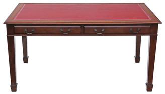 Antique large Georgian revival partner's desk writing table 5' x 3' C1925
